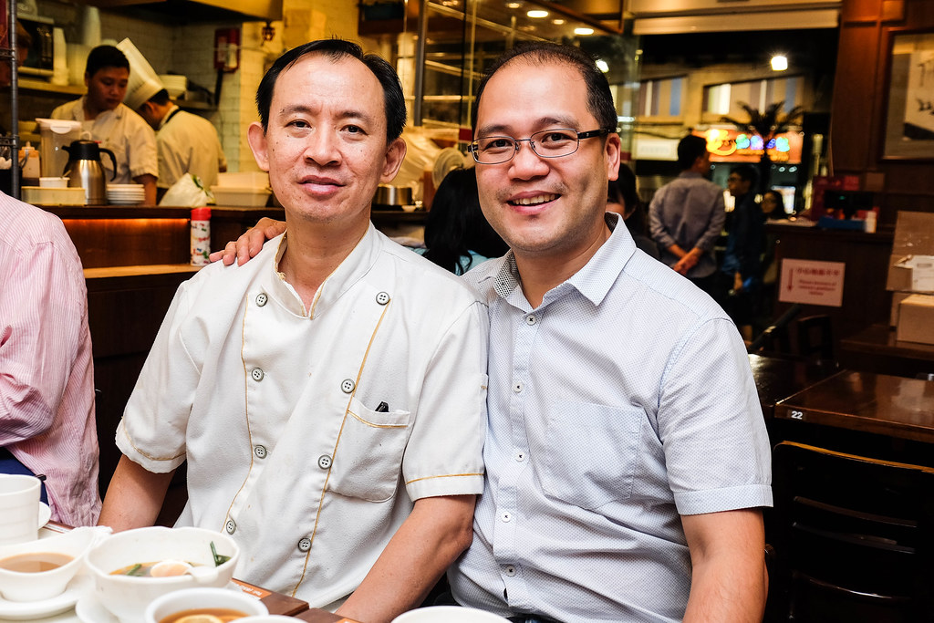 Head Chef Wong Kwan-sang & Owner Hardy Kam at Kam's Roast Goose