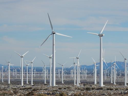 Windmolens bij Palm Springs