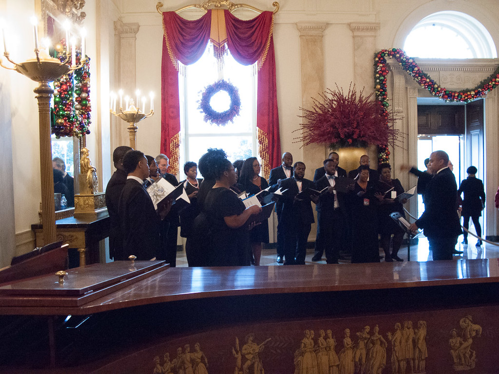 Choir during White House Christmas Tour