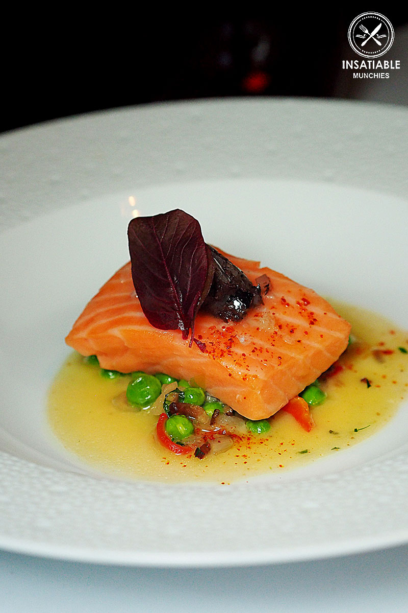Pan-seared Salmon, Fresh Pea and Spec Ragout: Ananas, The Rocks. Sydney Food Blog Review