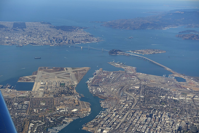 San Francisco & Oakland from the air