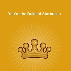 Why yes, I am. #dukedom #duke #yelp #starbucks #coffee #latte