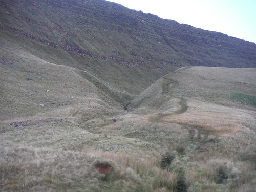 Nant Tawe Fechan and Fan Hir Escarpment