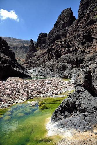 dirhor wadi algea canyon firmhin green island river socotra yemen hadhramautgovernorate ye