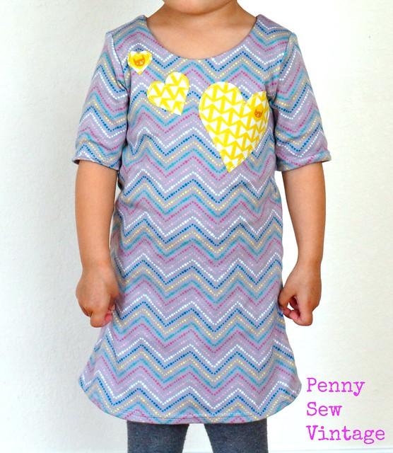 Applique Hearts Skola Dress