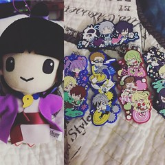 And the last few things! #Maya from #PhoenixWright and #Talesof phone straps that are now Christmas ornaments XD ❤️ #anime #plushies #talesofxillia #talesofgraces