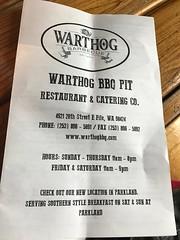 Warthog BBQ in Fife, WA
