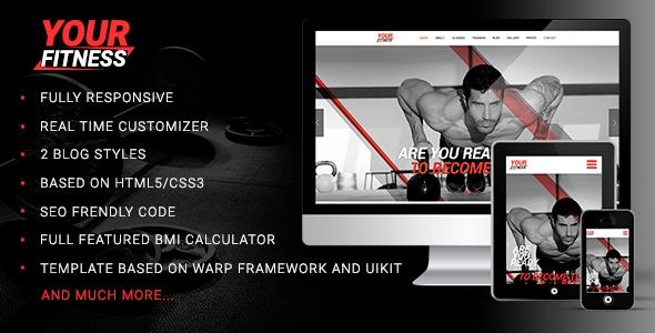 YourFitness v1.0.0 – Sport Blog Fitness Club Gym Theme