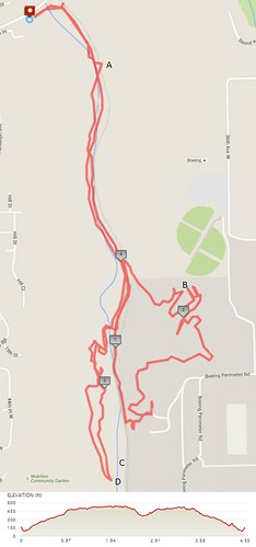 Today's awesome walk, 4.85 miles in 2:08, 10,427 steps, 558ft gain