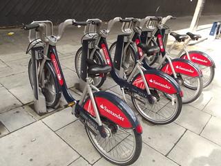 Santander (Boris) Bikes - photo by Elliott Brown