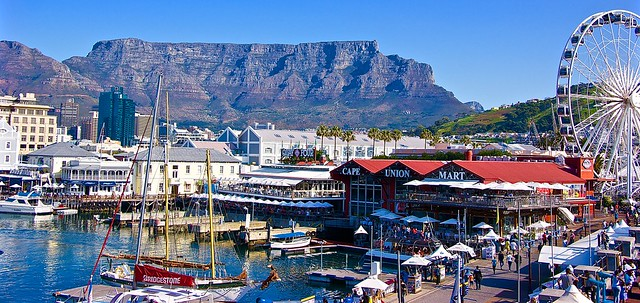 V & A Waterfront in the backdrop of the Table Mountain