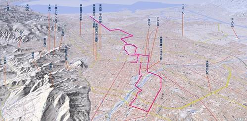 北海道マラソンのルートを描画