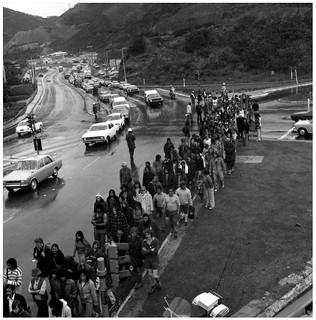 Māori Land March - 13 October 1975, Ngauranga Gorge, Wellington