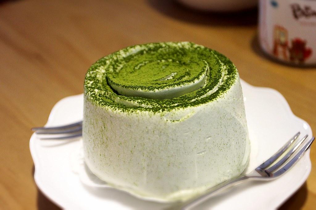 抹茶蛋糕,很漂亮的啊