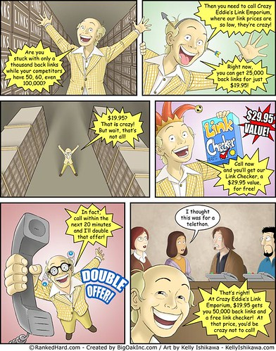 Crazy Eddie's Link Buying Emporium - SEO comic