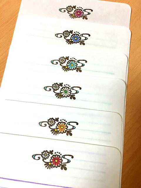 6色菊の花便せん2