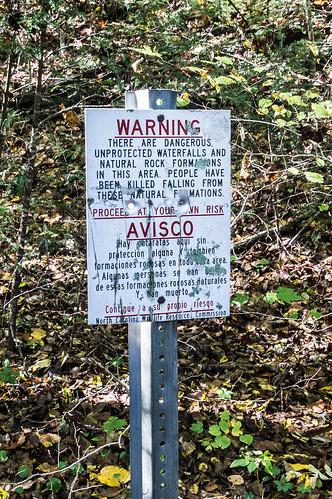 Waterfall warning