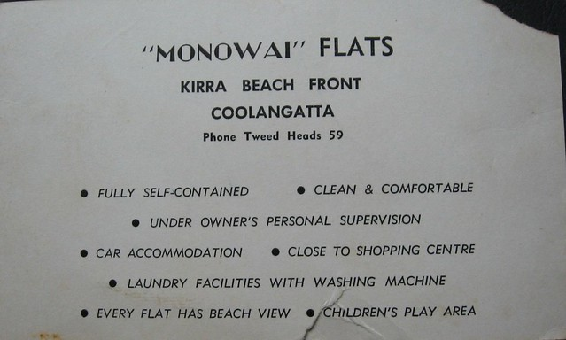 Monowai Flats, Kirra Beach, Gold Coast, Qld - 1960s