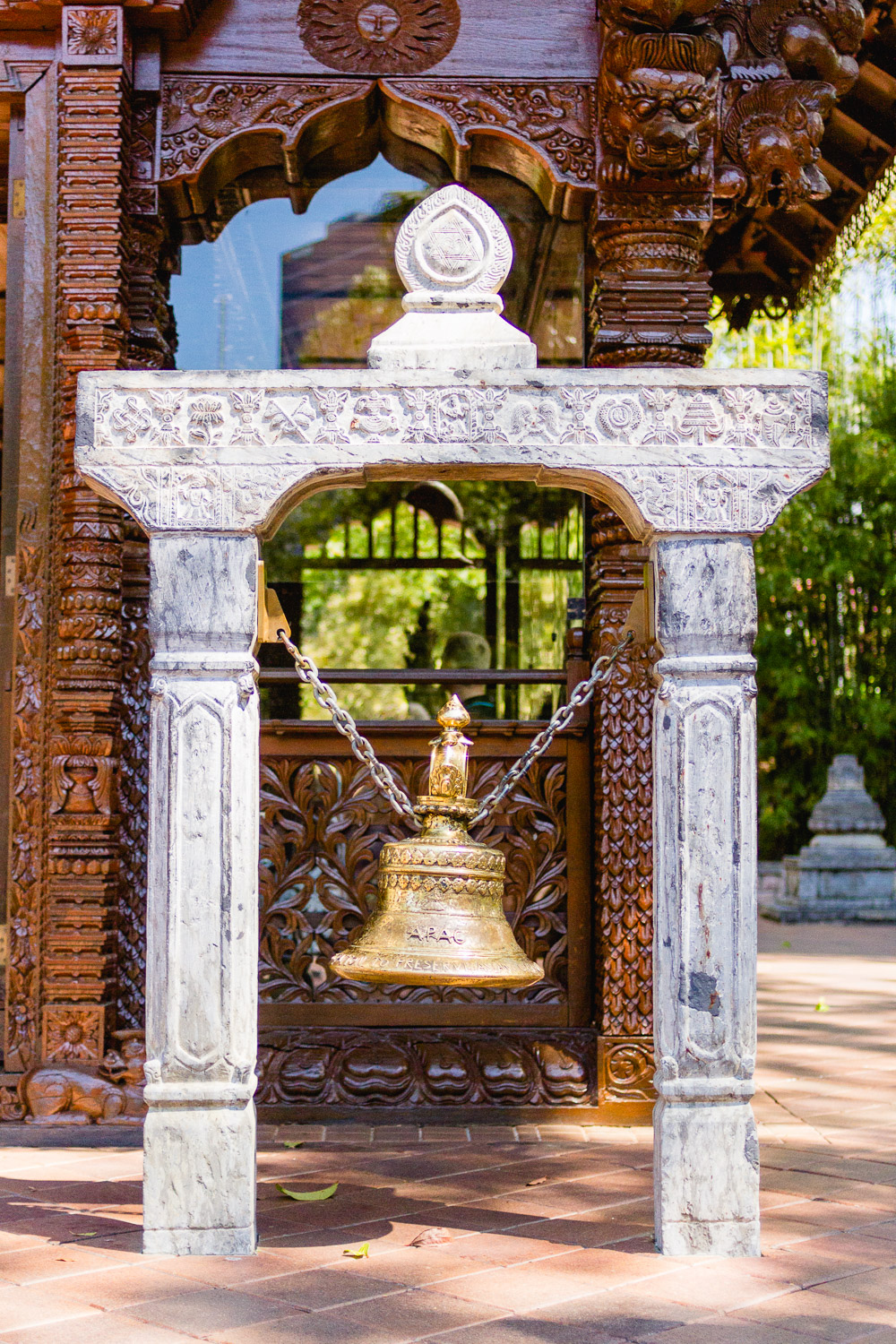 Nepalese Peace Pagoda bell
