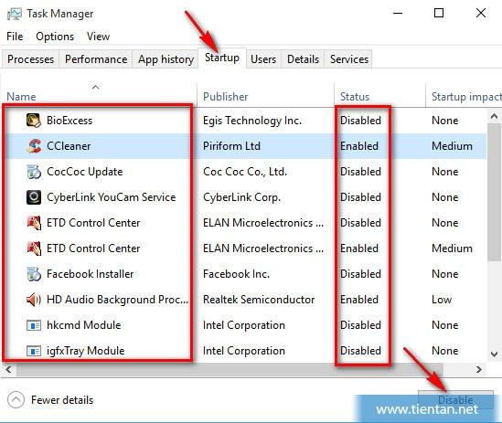 Loại bỏ những ứng dụng khởi động cùng windows