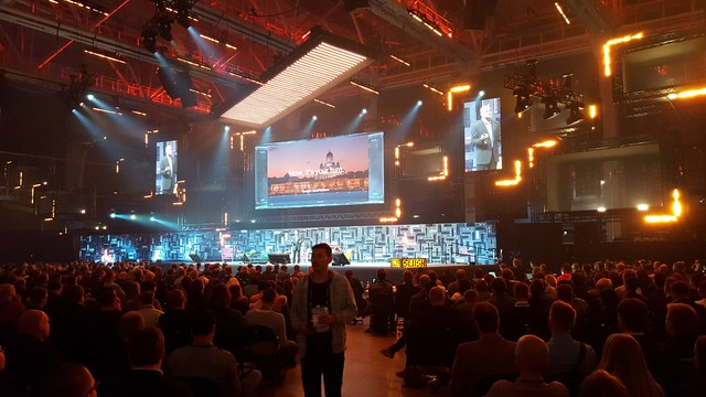 Google's Eric Brewer speaking at Slush