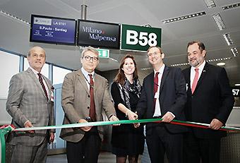LAN vuelo inaugural a MXP 1 (LATAM)