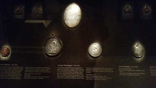 Smithsonian Indian Peace Medal exhibit