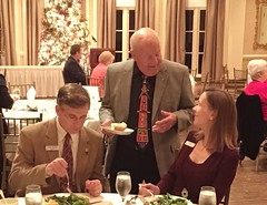 Burt Anderson talking with Matthew and Sonia Kane.