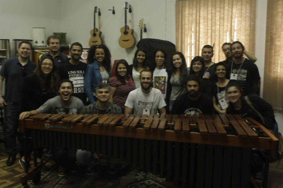 Foto com alunos