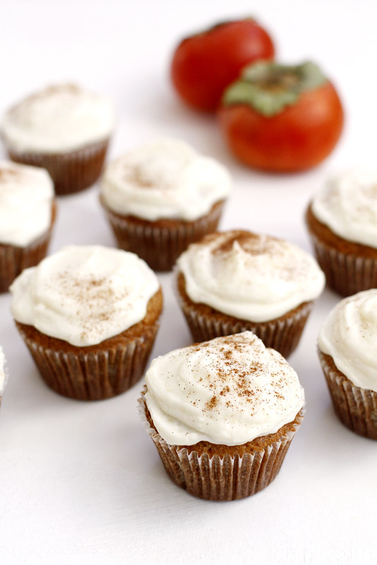 Persimmon Spice Cupcakes | girlversusdough.com @girlversusdough