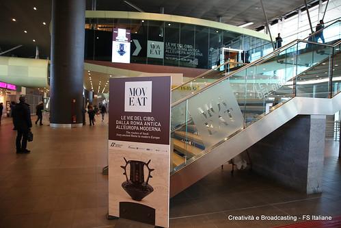 Ingresso della mostra all'interno della stazione di Roma Tiburtina