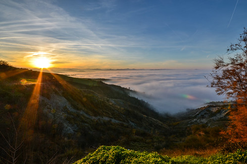 sunset italy panorama fog landscape italia tramonto nebbia montagna appennino emiliaromagna romagna cesena casalbono