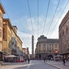 Early morning street scene, Bologna