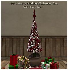 DD Flowery Blinking Christmas Tree Vendor