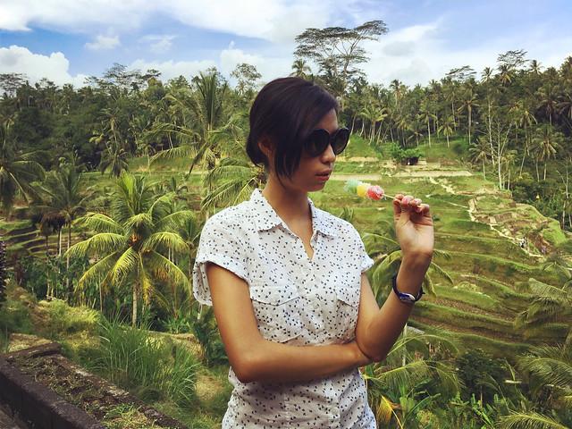 Enjoying sweets at Tegalalang