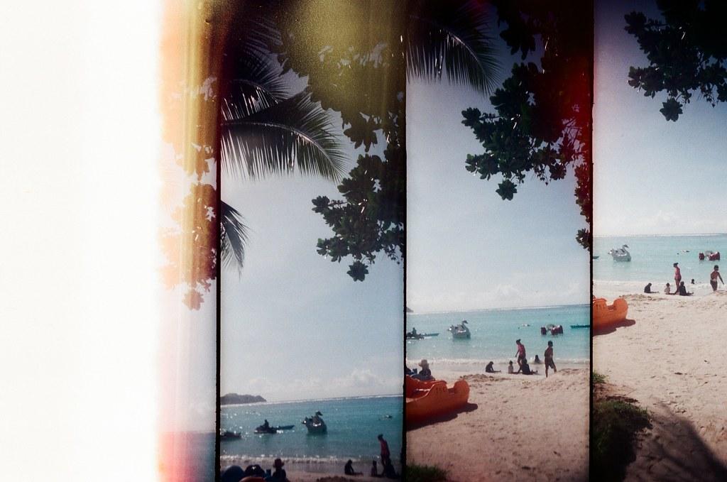 Guam US / FUJICOLOR 業務用 / SuperSampler Dalek 關島的沙灘上,好像是第一張,好像是從右邊往左邊,好像是從上面往下面。  SuperSampler Dalek FUJICOLOR 業務用 ISO400 7411-0001 2016-11-08 Photo by Toomore