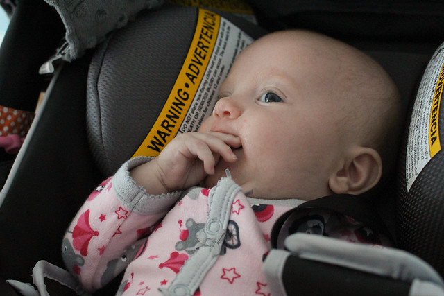 Peyton eating her fingers