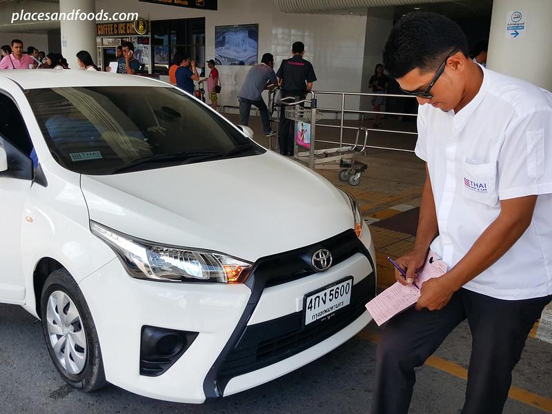 thai rent a car toyota yaris