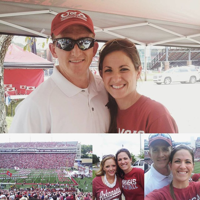 Hot, sweltering fun at the Hogs game today! It was our first Bielema game to attend... the last game we attended was 3 years ago.