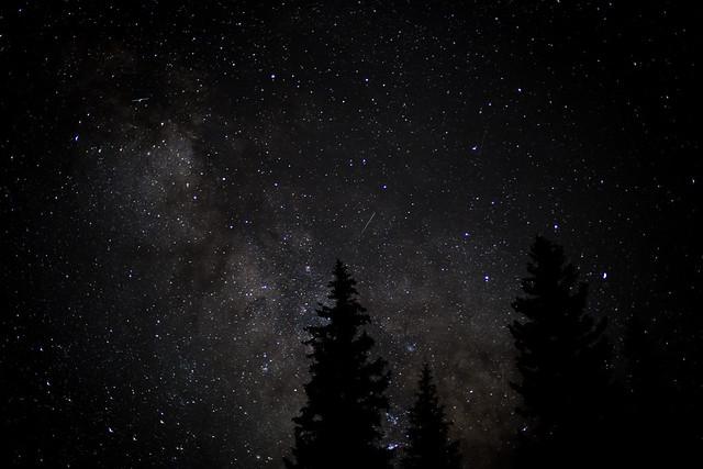 The Perseid Meteor Shower Over Colorado