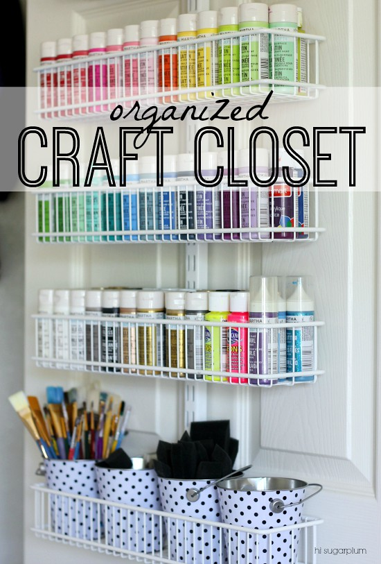 pretty out spring closet craft clean neat living