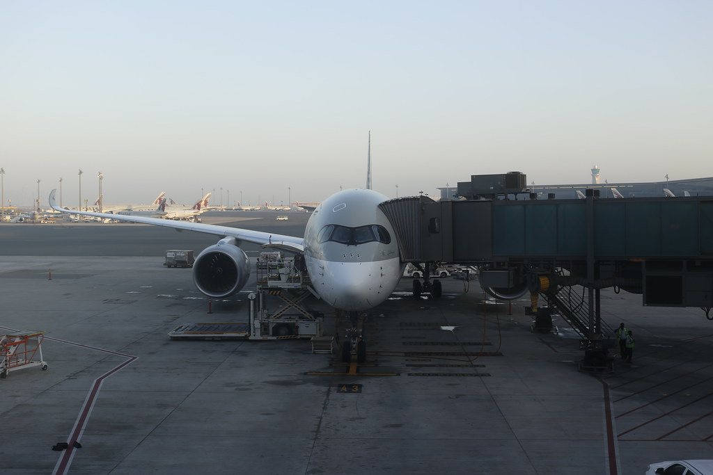 Qatar Airways A350 in Doha