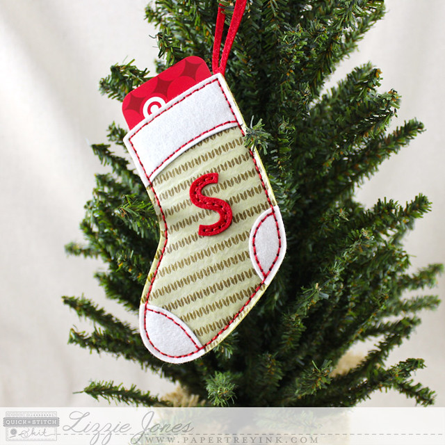 Monogrammed Stocking Tag On Tree