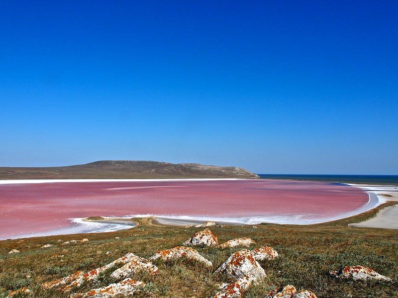 Salt lakes of Kerch peninsula, Crimea, Ukraine