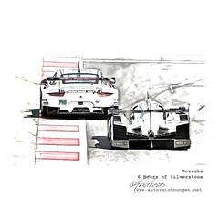 Porsche 6 Hours of Silverstone #cardrawing #Pencildrawing by www.autozeichnungen.net