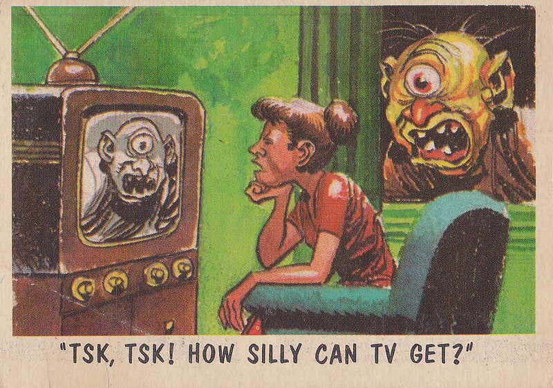 """""""You'll Die Laughing"""" Topps trading cards 1959,  illustrated by Jack Davis (62)"""