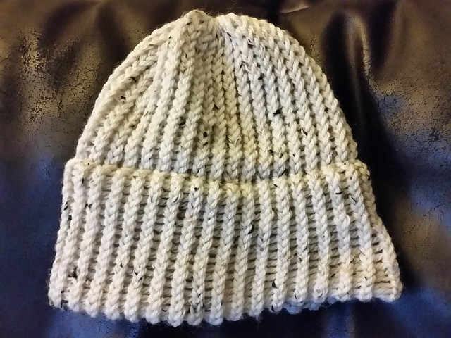 First adult sized knitted loom hat done. :)