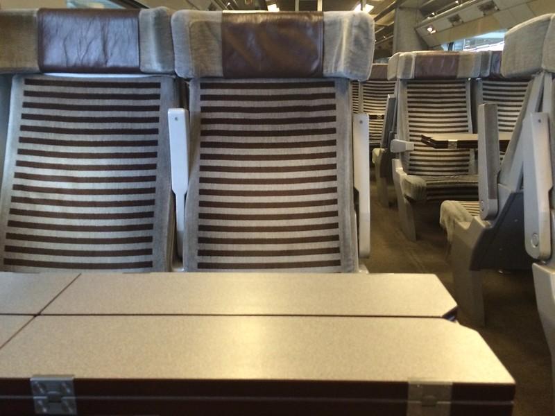 On Eurostar train to Paris.