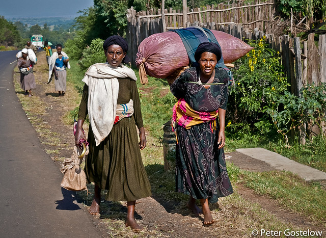 Women walking to market
