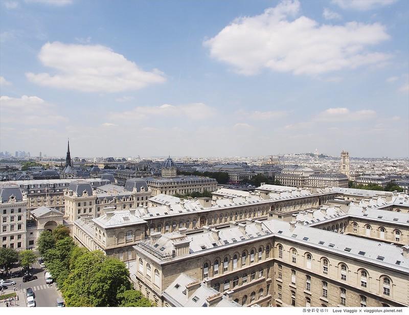 【巴黎 Paris】巴黎聖母院宏偉壯觀的教堂建築 登高俯瞰白天巴黎市景 Notre-Dame de Paris @薇樂莉 Love Viaggio | 旅行.生活.攝影